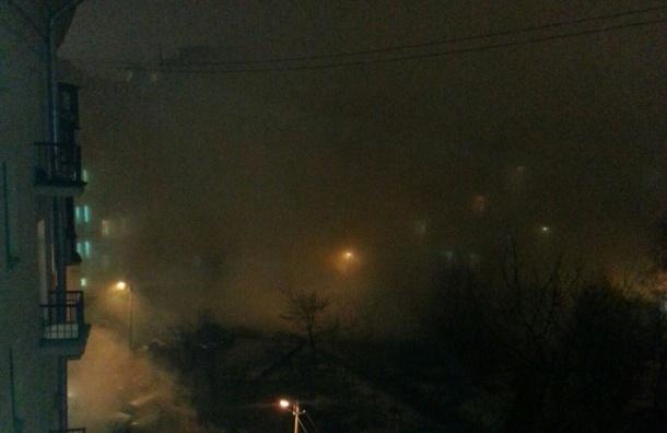 Машины наМосковском проспекте залило кипятком