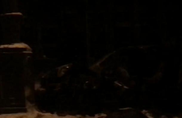 Девушка врезалась встолб наМосковском проспекте