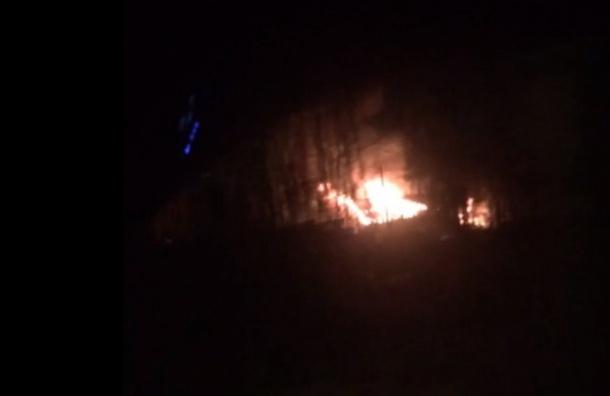Петербуржцы сообщили опожаре навыезде изРыбацкого