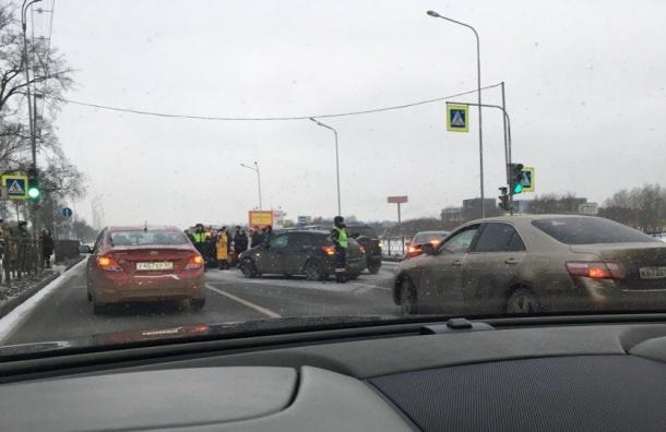 Массовое ДТП произошло наПулковском шоссе