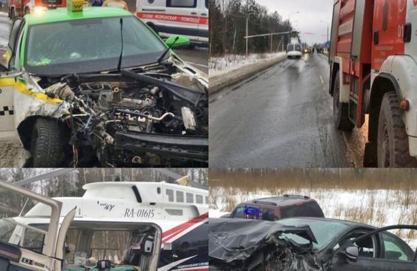 Влобовом столкновении 2-х иномарок наГорском шоссе пострадали 3 человека