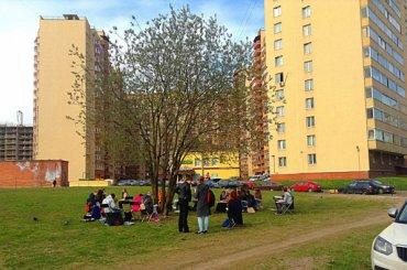 Сквер наКондратьевском проспекте сохранят