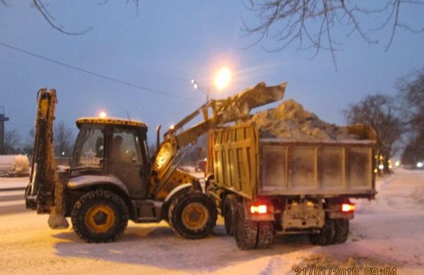 Петербург лишился 30 тысяч тонн снега