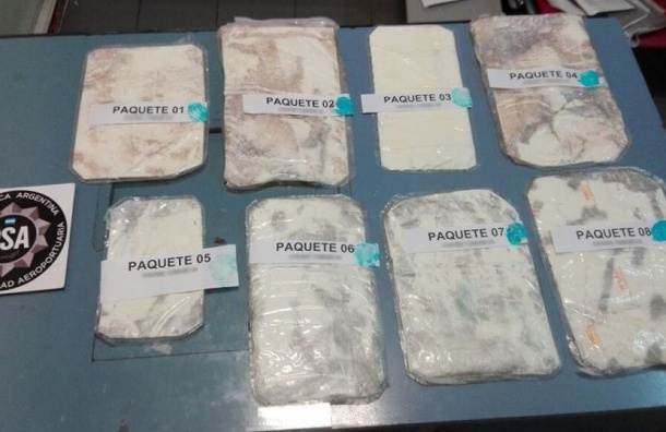 Россиянин счемоданом кокаина задержан вБуэнос-Айресе