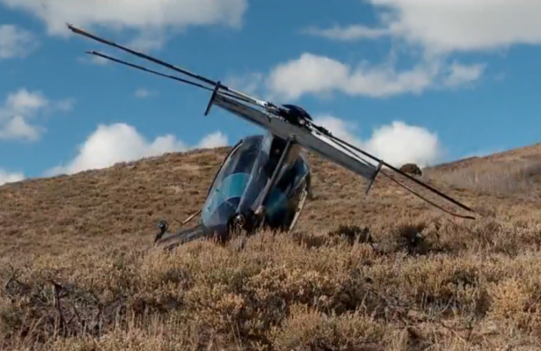 ВСША вертолет разбился после столкновения слосем