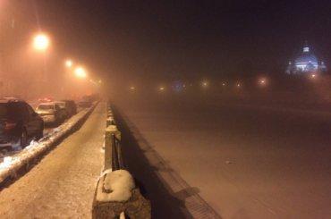 Ночью Петербург накрыл густой туман