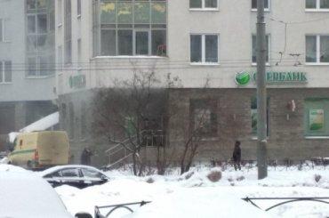 Горит Сбербанк напроспекте Энтузиастов