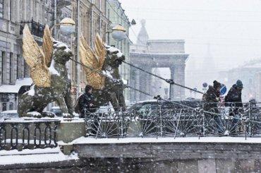 Петербуржцам обещают снег игололед навыходных