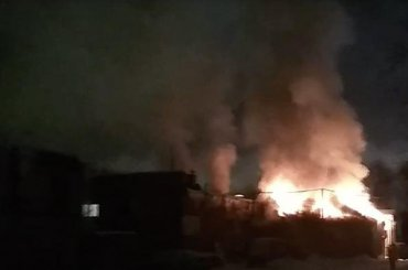 Пожар набывшем мясокомбинате «Самсон» попал навидео
