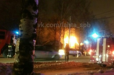 Пожар тушили наЛахтинском проспекте