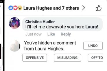 Facebook работает над кнопкой для неприятных комментариев