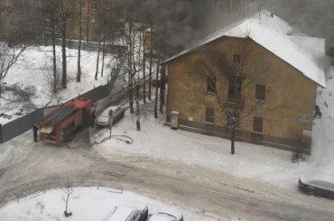 Дом горит вКрасногвардейском районе