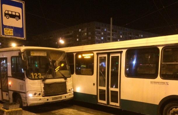 Маршрутка иавтобус неподелили остановку наЛуначарского