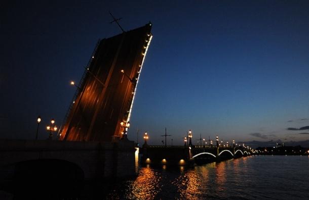 Три моста разведут вночь на20марта вПетербурге