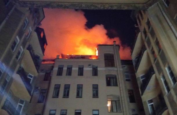 Крупный пожар произошел вофисном здании наКуйбышева