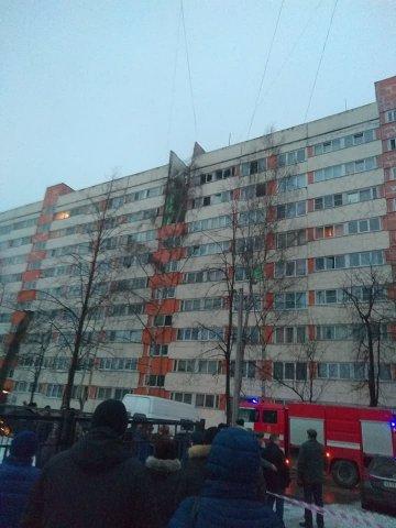 Взрыв в доме в Петербурге на Народного Ополчения, 13.03.18  6