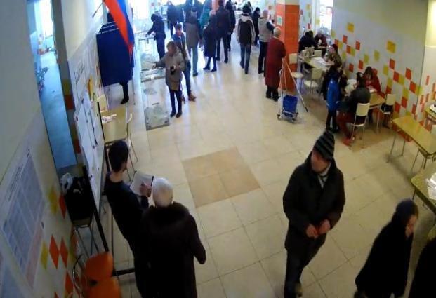 Очереди в Шушарах, 18 марта, выборы  4