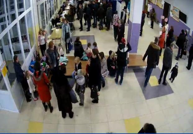 Очереди в Шушарах, 18 марта, выборы  2