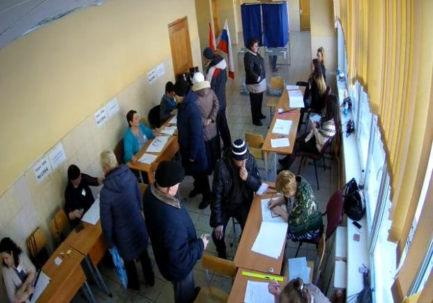Очереди в Шушарах, 18 марта, выборы  3