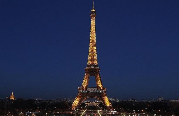 Подсветку Эйфелевой башни изменили к8Марта