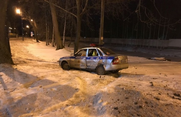 Пьяный лихач вовремя погони протаранил полицейскую машину