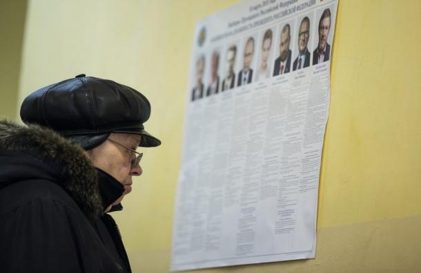 Владимир Путин вПетербурге набрал меньше голосов, чем поРоссии