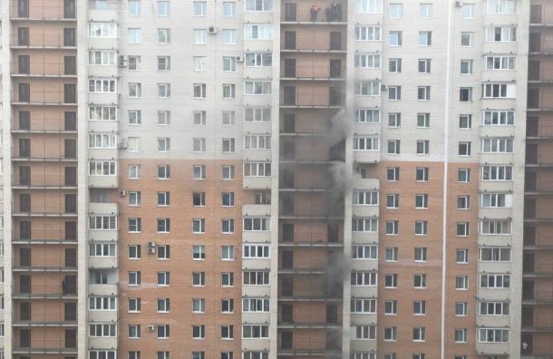 Младенец госпитализирован вПетербурге из-за пожара вжилой многоэтажке