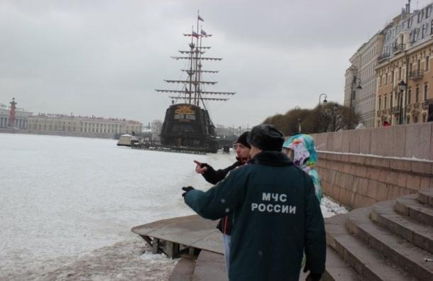 Спасатели пошли наособые меры для борьбы спрогулками польду вПетербурге