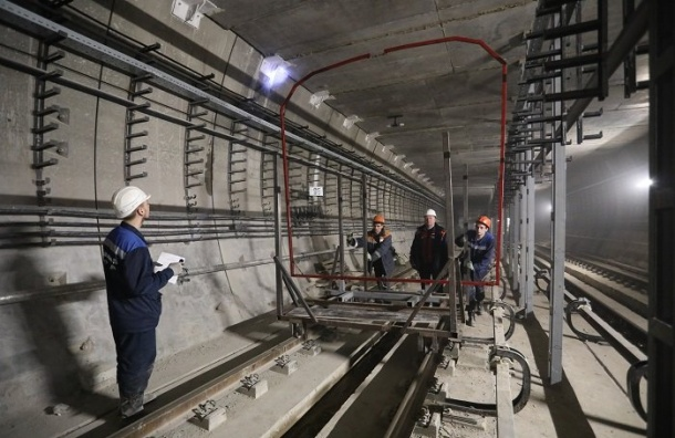 Строительство нового участка Невско-Василеостровской линии почти завершено