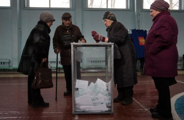 Путин набирает вПетербурге более 76% голосов