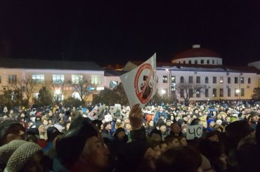 Жители Волоколамска вышли настихийный митинг