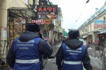 Полицейские провели массовую проверку мигрантов наСадовой улице