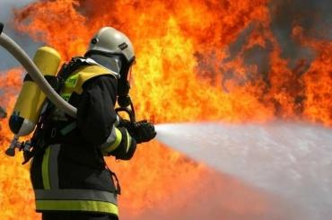 Пожар тушили вАдмиралтейском районе