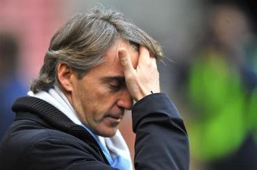 Манчини недоволен судейством матча с«Амкаром»