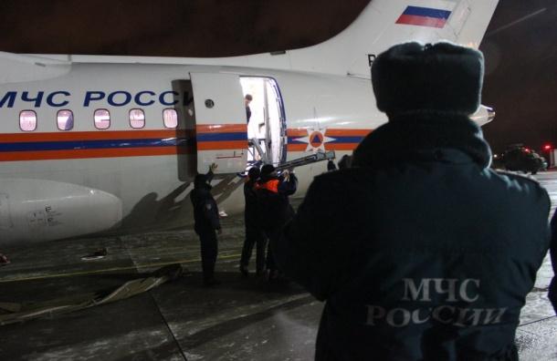Спецборт МЧС доставил пациентов изГрозного вПетербург
