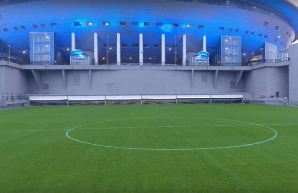 Настадионе «Санкт-Петербург» прошла проверка системы выкатывания поля