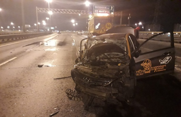 Делимобиль разбился омашину дорожных служб