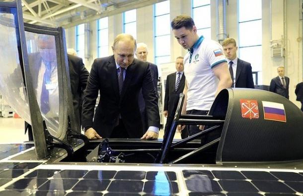 Путин будет лично тестировать первый солнцемобиль