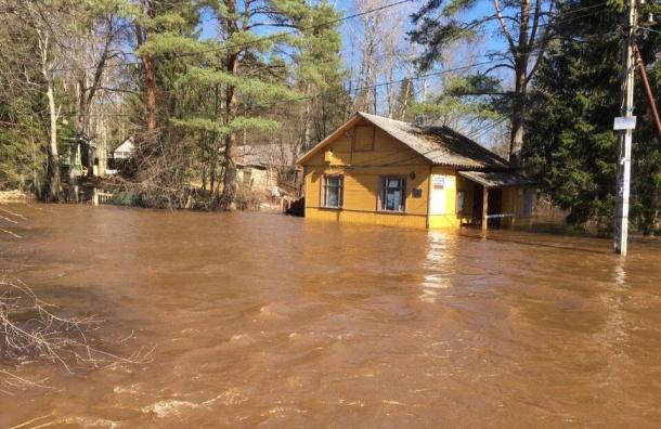 Река Сестра затопила дома вЛенобласти