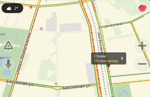 Пробки в Петербурге достигли 7 баллов