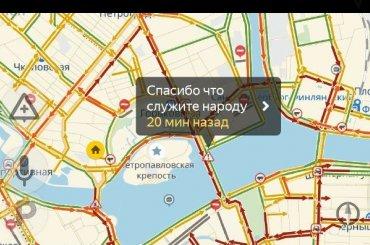 Центр Петербурга стоит в10-балльной пробке