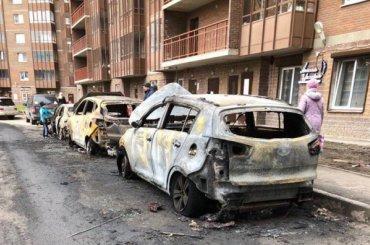 Поджог иномарки вПриморском районе попал навидео