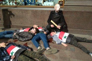 НаНевском проспекте прошла акция протеста против войны в Сирии