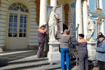 Царскосельская скульптура освобождается от«теплой одежды»