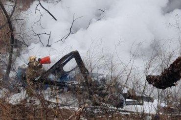 Шесть человек погибли при крушении вертолета вХабаровске