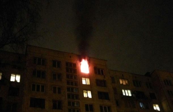 Спасатели эвакуировали 10 человек изгорящего дома наКондратьевском
