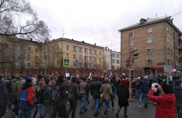 Более 150 человек задержали намитинге вКрасноярске