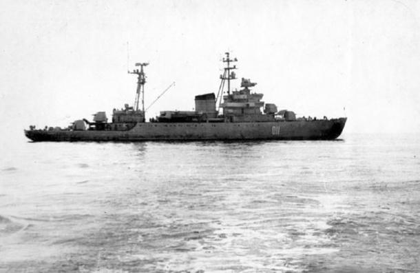 Затонувший флагман Ладожской флотилии нашли вПетербурге