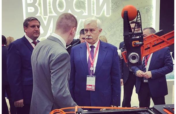 Полтавченко: настроительство речного порта вПетербурге уйдет 3