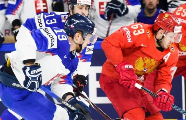 Россия обыграла Словакию начемпионате мира похоккею